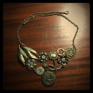 Boho/ vintage floral necklace